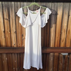 NEW Mossimo ivory cold shoulder dress